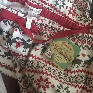 NWT PJSALVAGE Flannel Pajama Pants Large